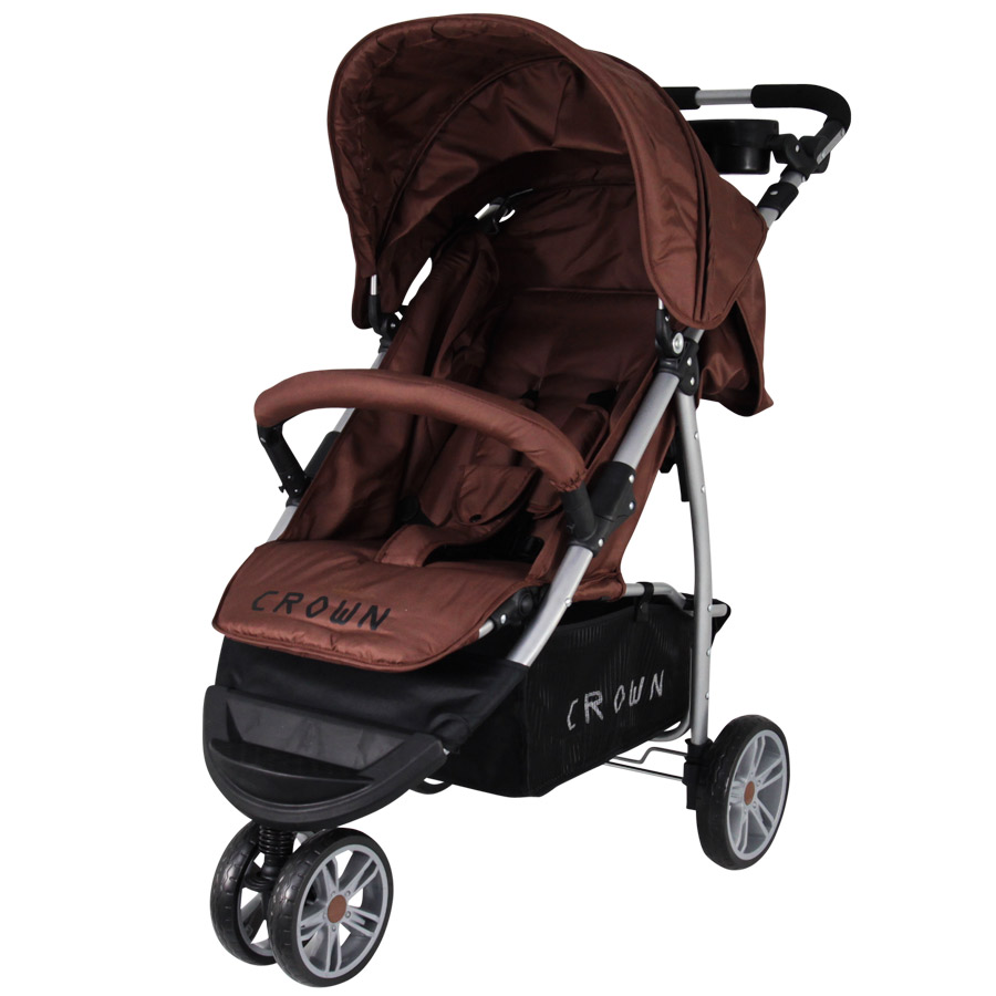 st712 crown kinderwagen buggy sport jogger farbe brown kinderwagen buggy. Black Bedroom Furniture Sets. Home Design Ideas